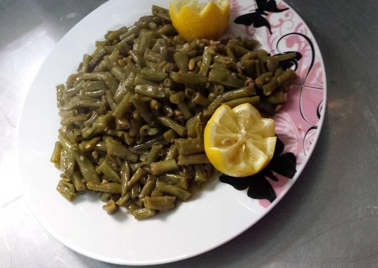 طريقه طبخ الفاصوليا الخضراء بالزيت