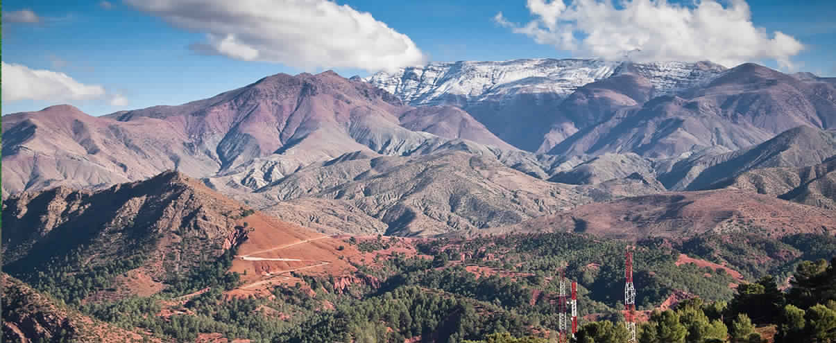 طول سلسله جبال الاطلس