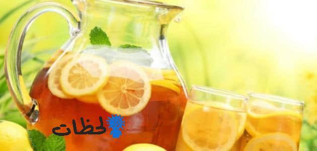 فوائد شرب الشاي بالليمون